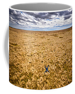 Coffee Mug featuring the photograph King Of The Hill by Carl Young