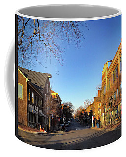 Coffee Mug featuring the photograph King Street Sunrise by Lora J Wilson