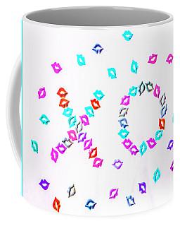 Kiss Hug Coffee Mug