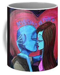 Kissing Is Fun Coffee Mug