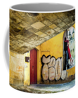 Kissing Under The Bridge Coffee Mug