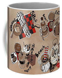 Coffee Mug featuring the drawing Kitchen by Ariadna De Raadt