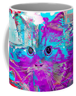 Kitty Collage Blue Coffee Mug