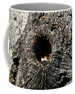 Coffee Mug featuring the photograph Knot Hole Nest by Ann E Robson