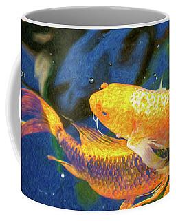 Koi Pond Fish - Free Love - By Omaste Witkowski Coffee Mug
