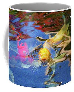 Koi Pond Fish - Friendly Enemies - By Omaste Witkowski Coffee Mug