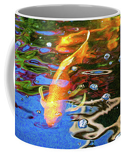 Koi Pond Fish - Golden Abstracts - By Omaste Witkowski Coffee Mug