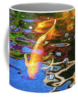 Koi Pond Fish - Golden Abstracts - By Omaste Witkowski Coffee Mug