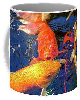 Koi Pond Fish - Kissing Sunshine - By Omaste Witkowski Coffee Mug