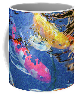 Koi Pond Fish - Making Plans - By Omaste Witkowski Coffee Mug