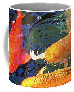 Koi Pond Fish - Making Room - By Omaste Witkowski Coffee Mug