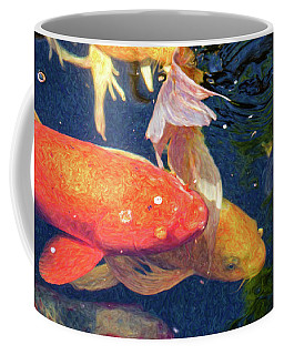 Koi Pond Fish - Pretty In Pink - By Omaste Witkowski Coffee Mug