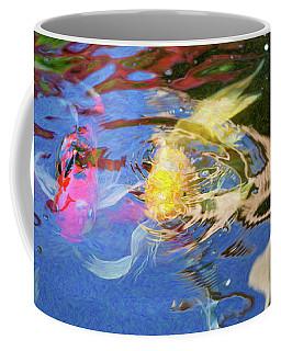 Koi Pond Fish - Swirling Emotions - By Omaste Witkowski Coffee Mug