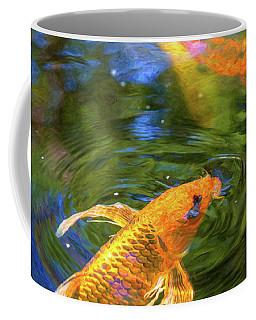 Koi Pond Fish - Turn Me Right Round - By Omaste Witkowski Coffee Mug