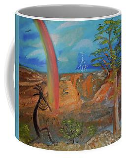 Kokopelli Calls The Storm Coffee Mug