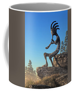 Kokopelli Statue Coffee Mug