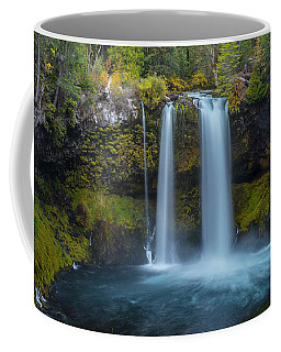 Coffee Mug featuring the photograph Koosah Falls, Autumn  by Matthew Irvin