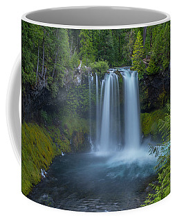 Coffee Mug featuring the photograph Koosah Falls, Summer by Matthew Irvin