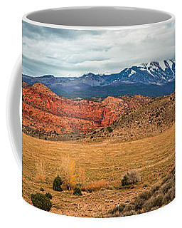 Coffee Mug featuring the photograph La Sal Mountains by Andy Crawford