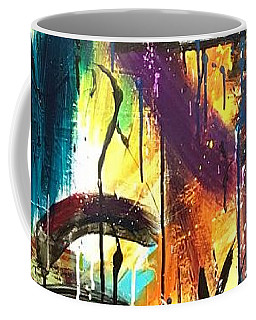 Coffee Mug featuring the painting La Vie Boheme Part Three by Rebecca Davidson