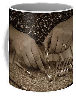 Coffee Mug featuring the photograph Lacemaker 1364 by Guy Whiteley