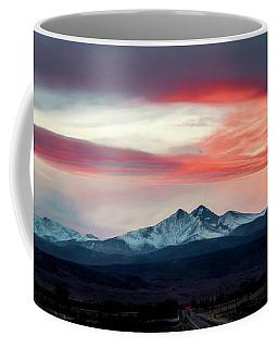 Ladies In The Sky Winter Sunset Coffee Mug