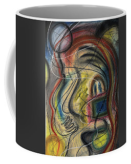 Coffee Mug featuring the pastel Lady With Purse by Mark Jordan