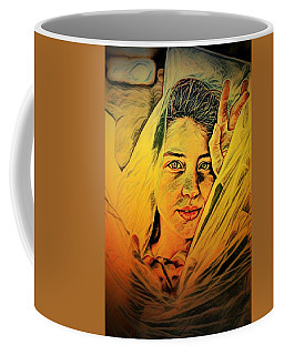 Lady Wrapped In Strings Coffee Mug