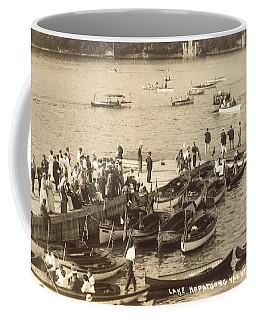 Lake Hopatcong Yacht Club Dock - 1910 Coffee Mug