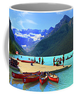Coffee Mug featuring the photograph Lake Louise In Alberta Canada by Ola Allen