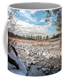Coffee Mug featuring the photograph Lake Oswego After The Snow  by Kristia Adams