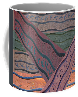 Coffee Mug featuring the photograph Lake Pat Sign Collage by Joan Stratton