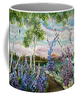 Lakeside Lupin Coffee Mug