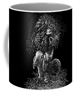 Coffee Mug featuring the drawing Lamb by Clint Hansen