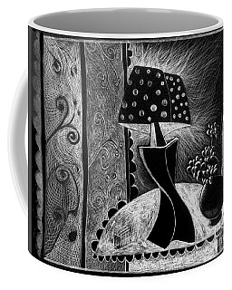 Lamp And Flowers. Coffee Mug