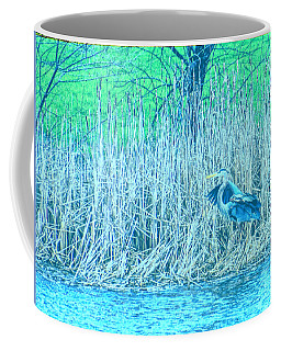 Landing Great Blue Heron Coffee Mug