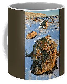 Last Light Of The Day In The Book Cliffs Coffee Mug