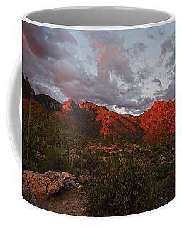 Last Light On Catalina Mountains Coffee Mug
