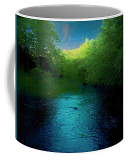 Late Evening On Pristine Trout Stream. Coffee Mug