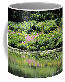 Lavender And Gold Reflections At Chicago Botanical Gardens Coffee Mug