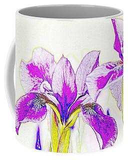 Lavender Irises Coffee Mug