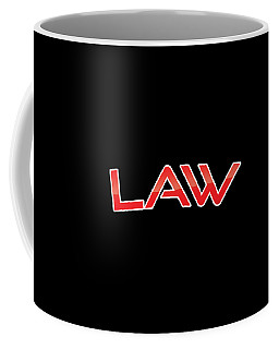Coffee Mug featuring the digital art Law by TintoDesigns