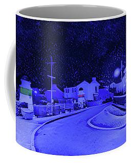 Laxey New Bridge In Snow Coffee Mug