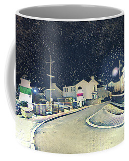 Laxey New Bridge On A Winter's Night Coffee Mug