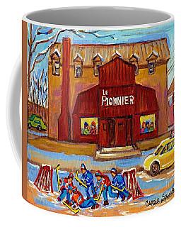 Le Bar Pionnier Lakeshore Drive Pierrefonds Restaurant Painting Montreal Landmarks C Spandau Art Coffee Mug