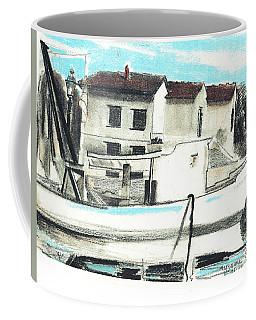 Le Barche Galleggianti Nel Mare Adriatico  Coffee Mug