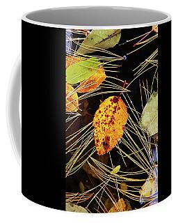 Leaf In Pond Coffee Mug
