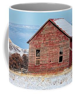 Leaning Barn In Winter Coffee Mug