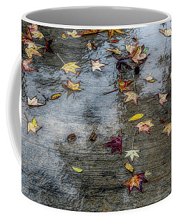 Coffee Mug featuring the photograph Leaves In The Rain by Alison Frank