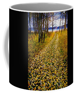 Leaves On Trail Coffee Mug